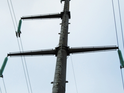 Multisided supports for 330 kV power lines installed in Belarus